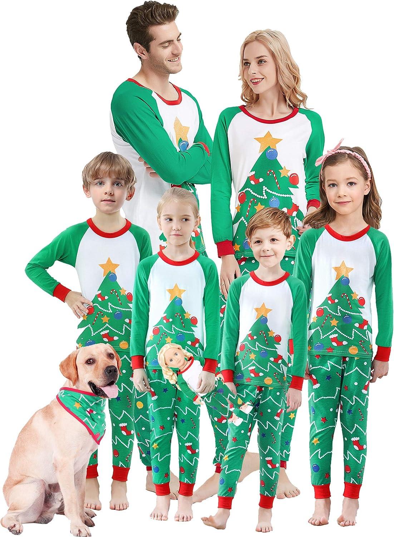 Family Matching Pajamas Xmas 期間限定で特別価格 祝開店大放出セール開催中 Tree Holiday Cotton Pjs Sleepwear C