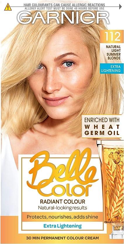 Belle Colour Number 112 Tinte permanente, cabello rubio claro natural