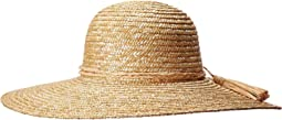 WSH1207 - Wheat Straw Hat with Braided Raffia Trim