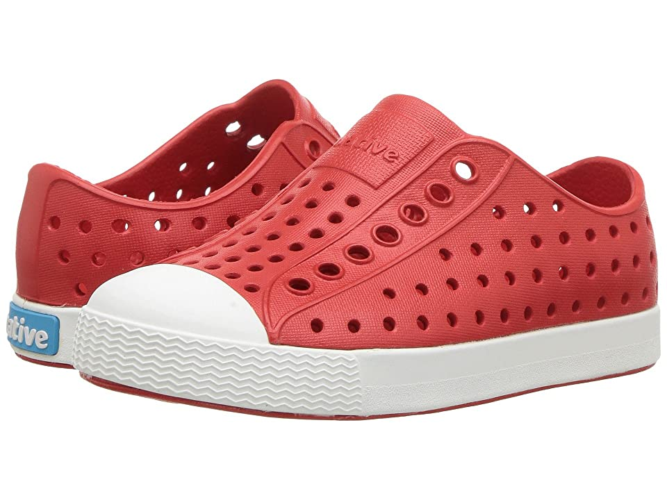 Native Kids Shoes Jefferson (Toddler/Little Kid) (Torch Red/Shell White) Kids Shoes