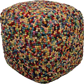 Ren-Wil PF040 Pouf, Small, Multicolored