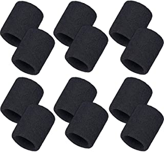 Bememo 12 Pack Sweatbands Sports Wristband Cotton Sweat Band for Men and Women, Good for Tennis, Basketball, Running, Gym, Working Out