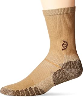 Travelsox The Best Dress and Travel Crew Compression Socks TSC, Khaki, X-Large