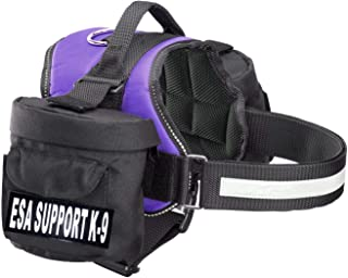 Doggie Stylz ESA Harness with 2 Removable Saddle Bags. 2 Reflective Removable Patches. Please Measure Dog Before Ordering.