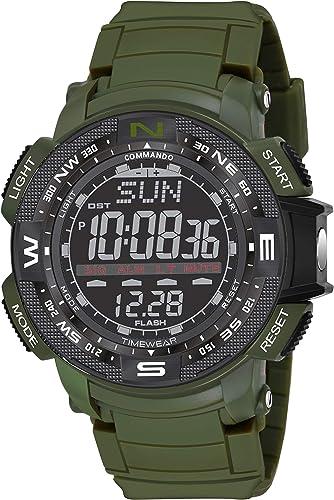Commando Series Digital Men s Boy s Watch Black Dial Green Colored Strap