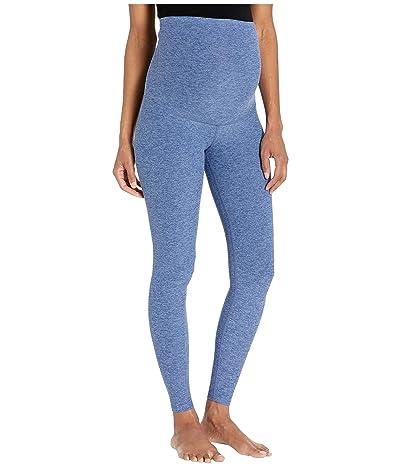 Beyond Yoga Maternity Empire Waisted Spacedye Midi Leggings (Serene Blue/Hazy Blue) Women