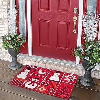 CAROMIO Christmas Door Mat, Front Door Decor Rug Low Profile Porch Mat Front Doormat Indoor Outdoor Doormat Non Slip Rugs ...