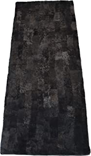 Leibersperger-Felle para Sillón (Piel Placa de auténtica Piel de Cordero/Oveja Patchwork 150x 60cm (Pizarra)