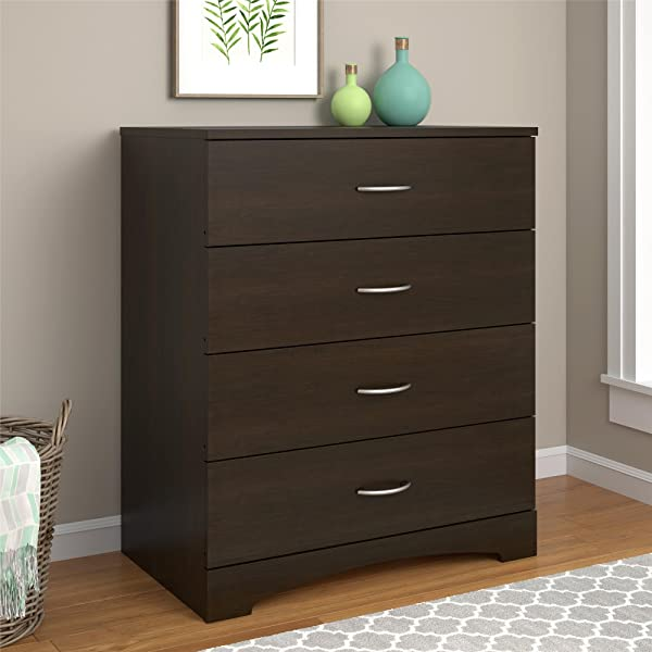 Ameriwood Home Crescent Point 4 Drawer Dresser Espresso