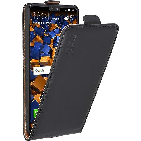 Mumbi Echt Leder Flip Case Kompatibel Mit Huawei P20 Pro Hülle Leder Tasche Case Wallet Schwarz Elektronik