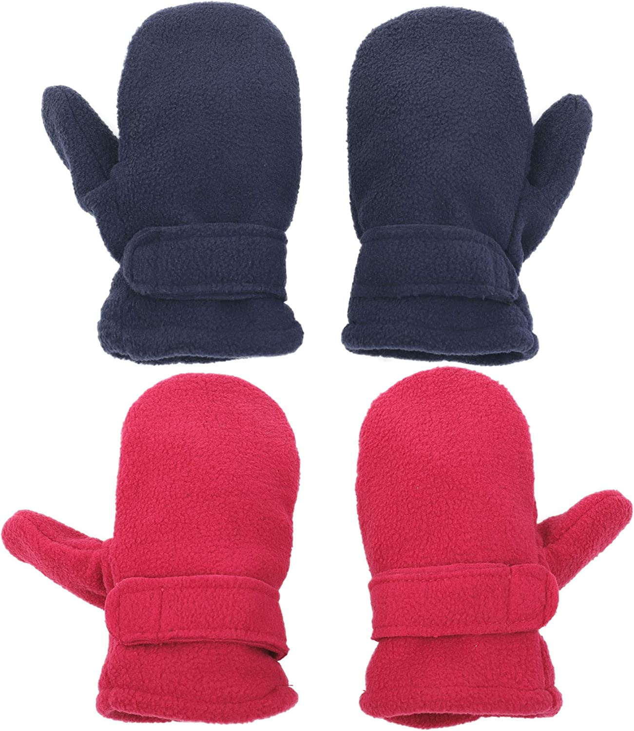 Flammi 2 Max 64% OFF Pairs Max 74% OFF Little Kids Sherpa On Lined Easy Mittens Fleece W