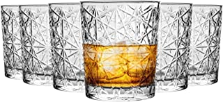 Bormioli Rocco Lounge Diamond Cut Whiskyglas Gläser Set - 275ml - Packung mit 24