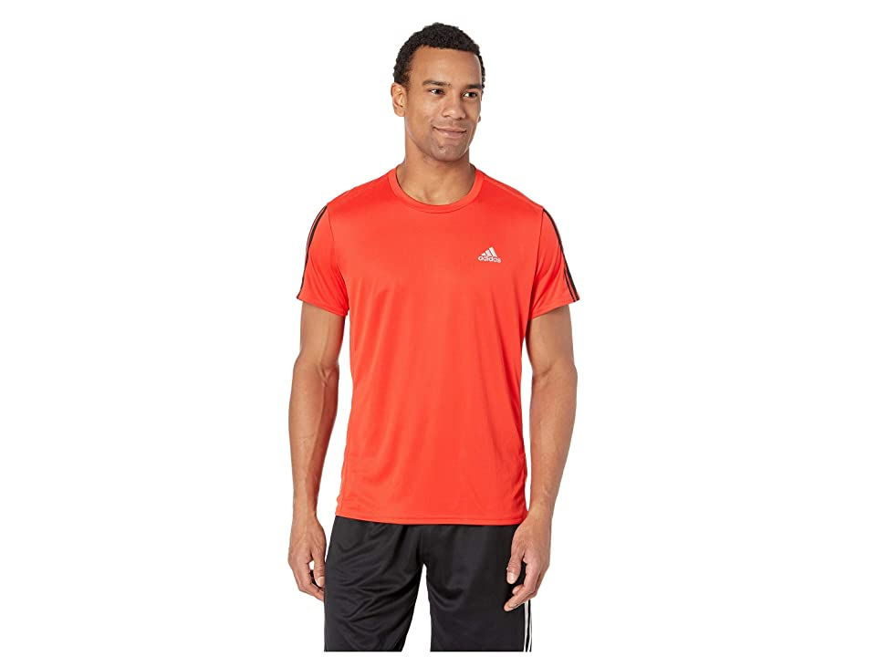 adidas Running 3-Stripes Tee (Active Red) Men