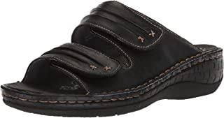 Propet Women's June Slide Sandal, black, 6 Medium US