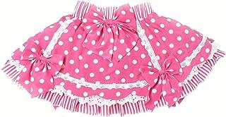 天使のドレス屋さん キッズファッション ロリータ 子供服 スカート キッズ ドット ピンク 子供 ロリータ ドット柄 スイートパーティー リボンブローチ付き HT7066