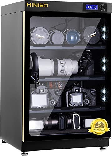 HINISO AD 80L 80 litres Camera Dry Cabinet with Electronic Display Black