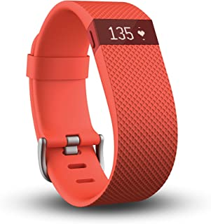 Fitbit Charge HR Heart Rate and Activity Wristband, Large (Tangerine)