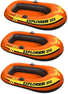 Intex Explorer Pro 200 Inflatable Youth Pool Raft (3 Pack)