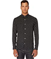 The Kooples - Classic Collar Button Down Shirt in A Panther Print