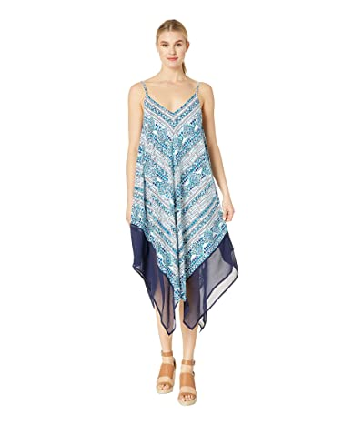 Tommy Bahama Floral Isles Scarf Dress (Caledon Sea) Women
