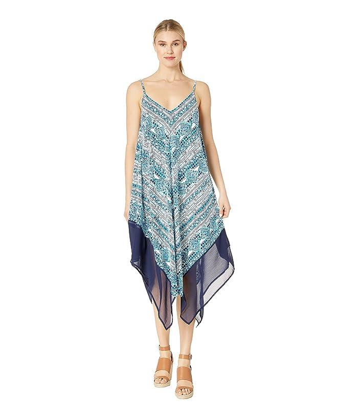 Tommy Bahama Floral Isles Scarf Dress (Caledon Sea) Women