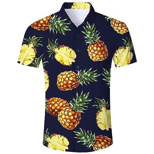 2004ad0d00 Goodstoworld Mens Casual Shirts Funky 3D Printed Short Sleeve Colourful  Hawaiian Shirts S-XL