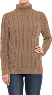 Women's Fisherman Cable-Knit Turtleneck Sweater