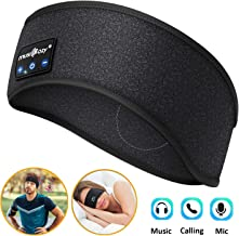 Sleep Headphones Bluetooth, WU-MINGLU Sleeping Headphones Wireless Headband with Built-in HD Stereo Speakers Perfect for Sports,Workout, Running, Yoga,Insomnia