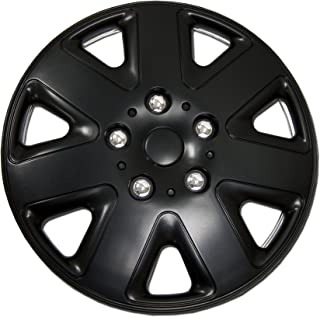 Tuningpros WC1P-17-1026-B - Pack of 1 Hubcap (1 Piece) - 17-Inches Style 1026 Snap-On (Pop-On) Type Matte Black Wheel Covers Hub-caps