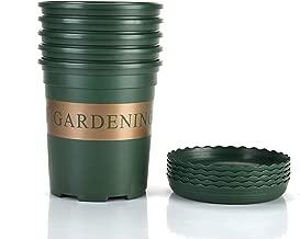 Fieren 1 Gallon Durable Nursery Pot 5 Pcs Garden Planter Pots, 1 Gallon pots for Plants, Gallon Nursery pots,Nursery pots with Drainage Holes 5PCS Gallon with Pallet (1Gallon)
