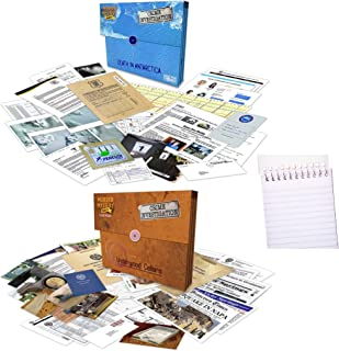 University Games Murder Mystery Party Case Files: Underwood Cellars Bundle with Death in Antarctica Mystery Detective Case...