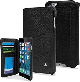 Vaja Agenda Premium Leather Case and Wallet for iPhone 6 Plus/6s Plus - Agenda Series - 1 ID Slot, 4 Card Slots and 2 Bill Compartments - Bridge Black