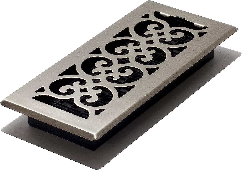 stahl 2-Inch by 12-Inch schwarz strukturiert Rollenbodenregister Brushed Nickel Finish
