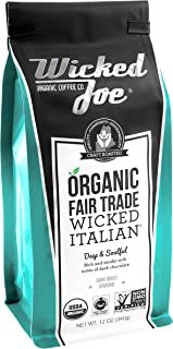 Wicked Joe Organic Coffee Wicked Italian Ground, 12 Ounce