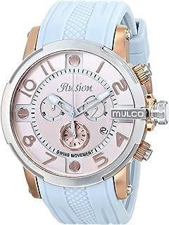 MULCO Unisex MW3-12239-413 Ilusion Roll Analog Display Swiss Quartz Blue Watch