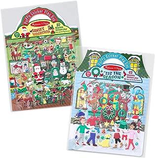 Melissa & Doug Puffy Reusable Sticker Pad Sets -Santa's Workshop & 'Tis the Season Activity Books
