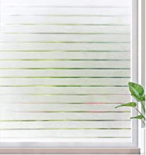 rabbitgoo Window Film Static Cling Decorative Privacy Film Non Adhesive Window Sticker UV Protection Window Covering Light...