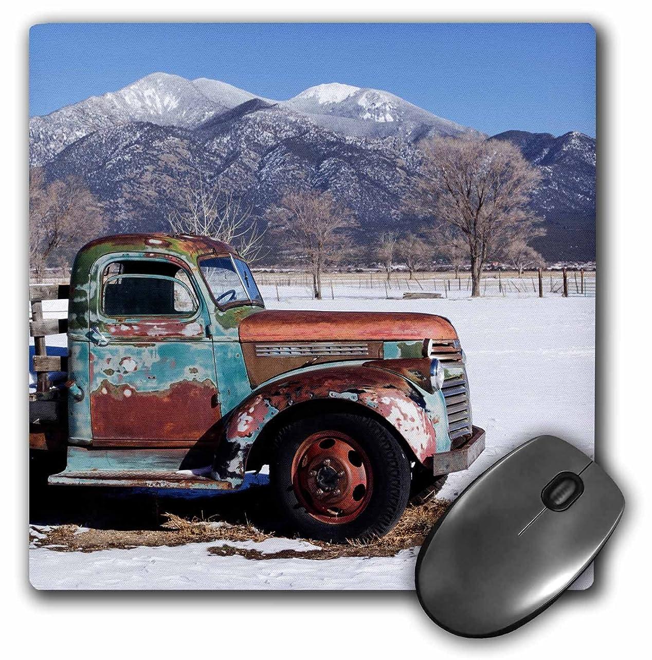民間人聖域嫌い3drose古いトラックのAフィールド、新しいメキシコ、USA Taos、座っている。マウスパッド、8?
