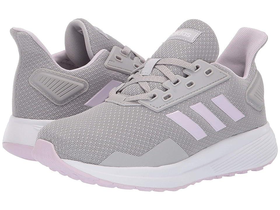 adidas Kids Duramo 9 (Little Kid/Big Kid) (Grey Two/Aero Pink/Footwear White) Girl