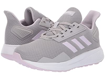 adidas Kids Duramo 9 (Little Kid/Big Kid) (Grey Two/Aero Pink/Footwear White) Girl