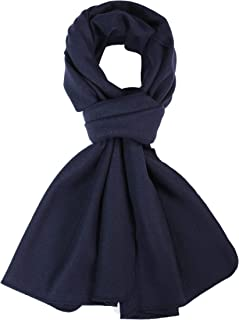 100% Mens Scarves Large Merino Wool Scarf Pashmina for Men Knitted Soft Warm Neckwear with Gift Boxes 72 X 17