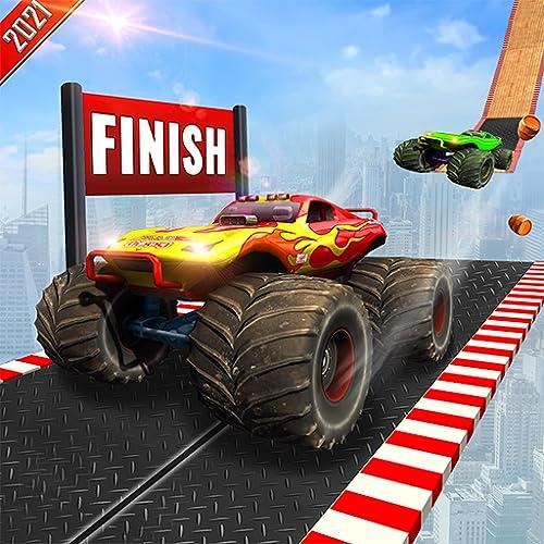Impossible Dubai Sand Safari Wüstenabbruch Monster Truck Fahren Xtreme Stunt Destruction Simulator: Ultimative Autounfall Stunt Rennspiele 2020