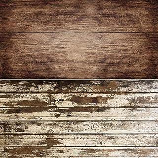 2 in 1 Retro Holz Hintergrund Vintage Holz Textur Foto Hintergrund Wasserdichtes Papier für Lebensmittel, Blumen, Geschirr Fotografie Ins Fotos 15.7x34.6 Zoll DP 214