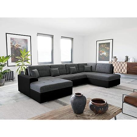 Bestmobilier - Ohio - Canapé d'angle panoramique - XXL 7 Places - Style Contemporain - Droit