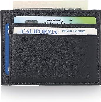 Alpine Swiss RFID Mens Thin Minimalist ID Card Case