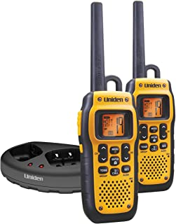 Uniden GMR3689-2CK 36-Mile GMRS TRU Waterproof Two-Way Radios with Headset Jack,two radios (Yellow)
