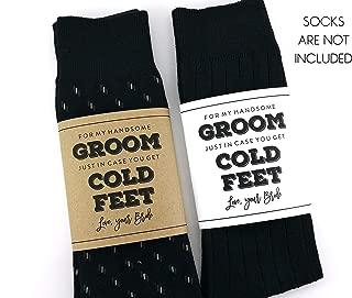Cold Feet Sock Wrapper, Groom Gift, Wedding Socks Wrapper, Wedding Socks Label (SOCKS NOT INCLUDED)