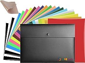 Fame Crafts Heat Transfer Vinyl Bundle, 22 Sheets, 20 Colors, 1 Bonus Teflon Sheet Iron On   HTV Silhouette for Cameo, Cricut, Die-Cut or Heat Press Machine   Assorted Colors   12