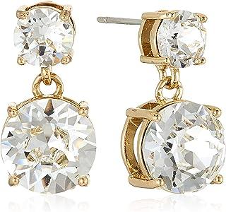 MESTIGE Women Crystal Golden Lauren Earrings with Swarovski Crystals