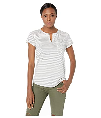 Toad&Co Sambasta Short Sleeve Tee (Egret Mini Stripe) Women